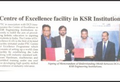 Centre of Excellence facility in KSR Institutions